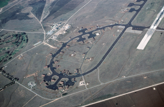 An aerial view of Incirlik Air Base, Turkey