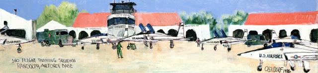 "Artwork:""560 Flight Training Squadron Randolph Air Force Base""Artist:  William C. Olendorf Sr"