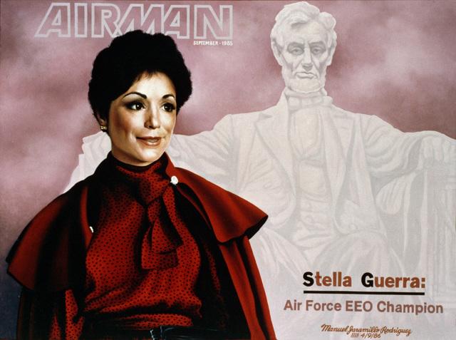 "Artwork:""Ms. Stella Guerro, EEO Champion""Artist:  Manuel J. Rodriquez"