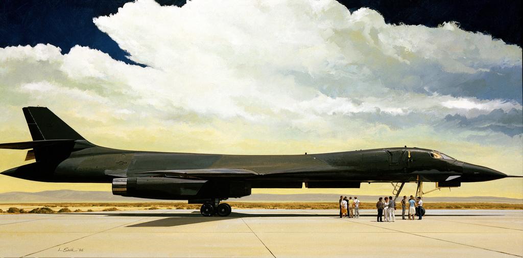 "Artwork:""The First B-1 Bomber""Artist:  Lawrence M. Salk"