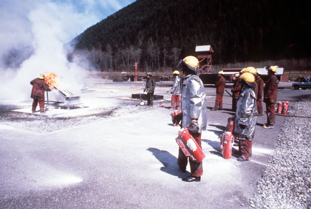 Firefighters participate in a training exercise at Readiness Command 22. Exact Date Shot Unknown