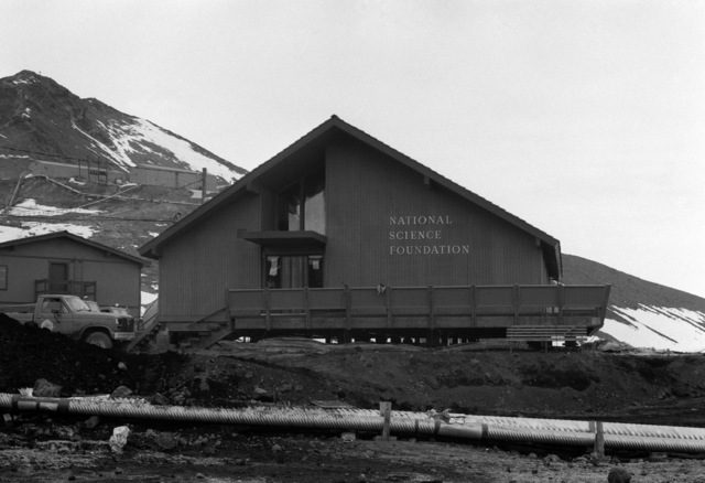 The headquarters of the National Science Foundation, which is the organization that oversees the US Antarctic Program.  A contingent of about 900 Sailors and Soldiers from the US and New Zealand work at the station to support the foundation's scientific efforts
