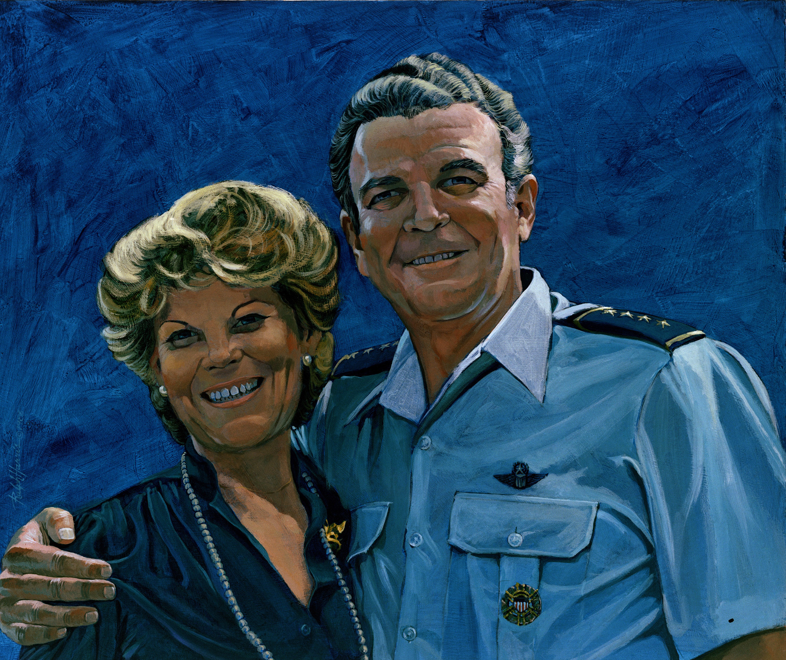 "Artwork:""GEN. Jerome F. O'Malley and Mrs. Diane M. O'Malley"".  Artist:  Ralph Harris"