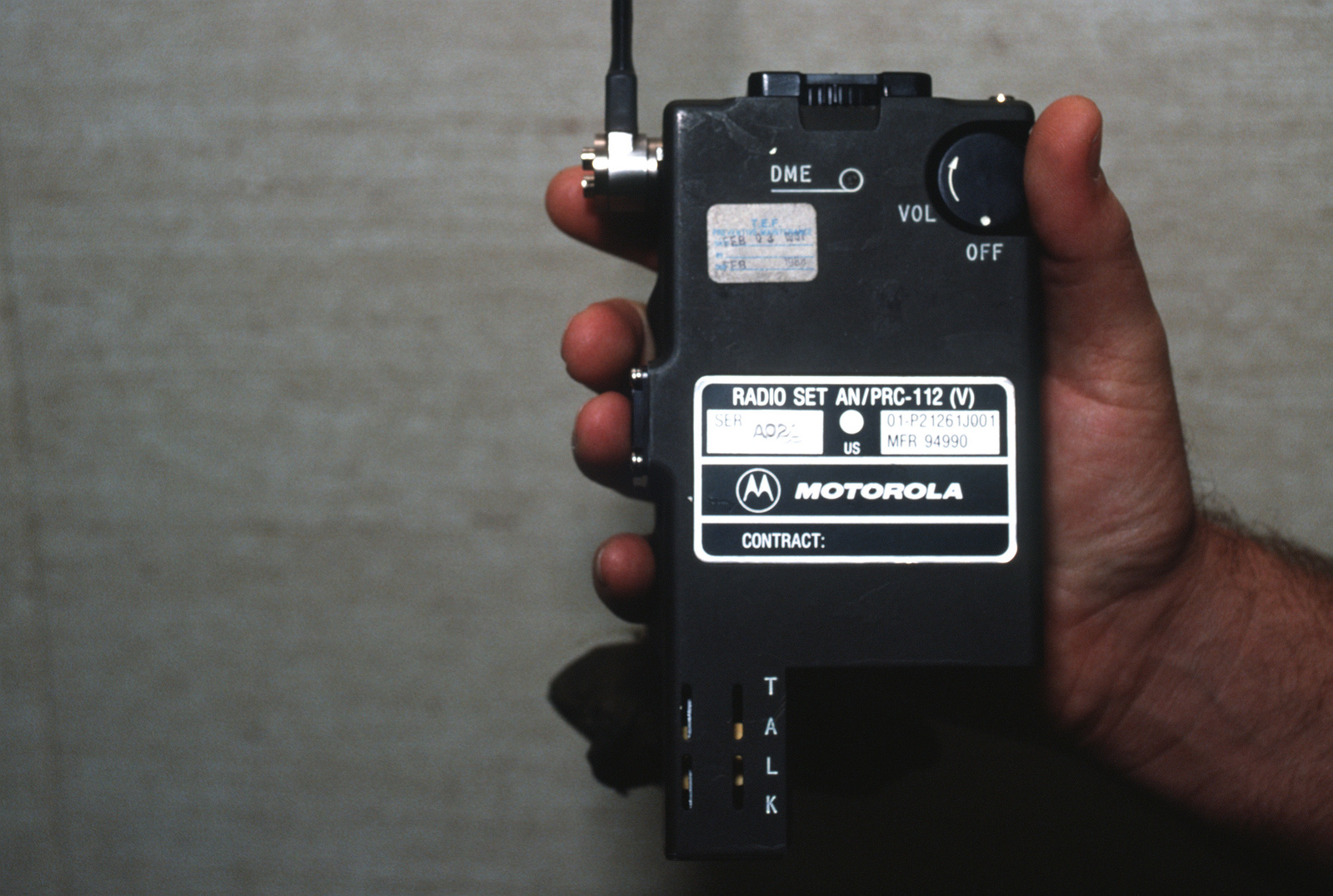 A close-up view of AN/PRC-112(V) radio set without battery   PICRYL