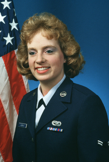 Portrait:  US Air Force (USAF) AIRMAN First Class (A1C) Debra Jane Anderson (uncovered)