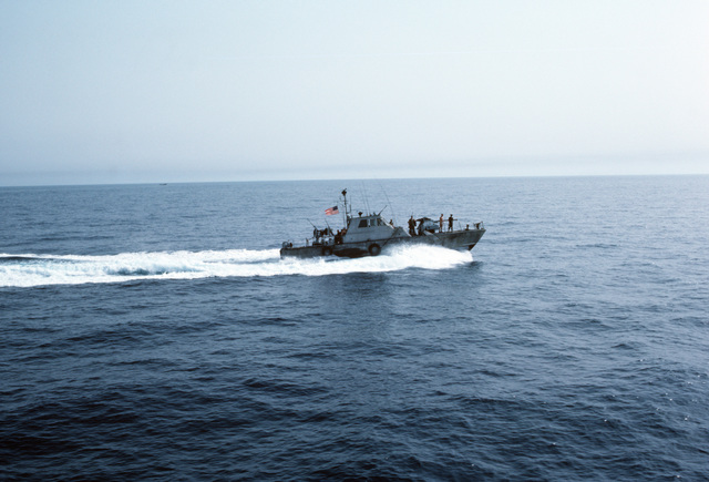 A starboard view of a PB Mark III patrol boat underway in the Persian Gulf