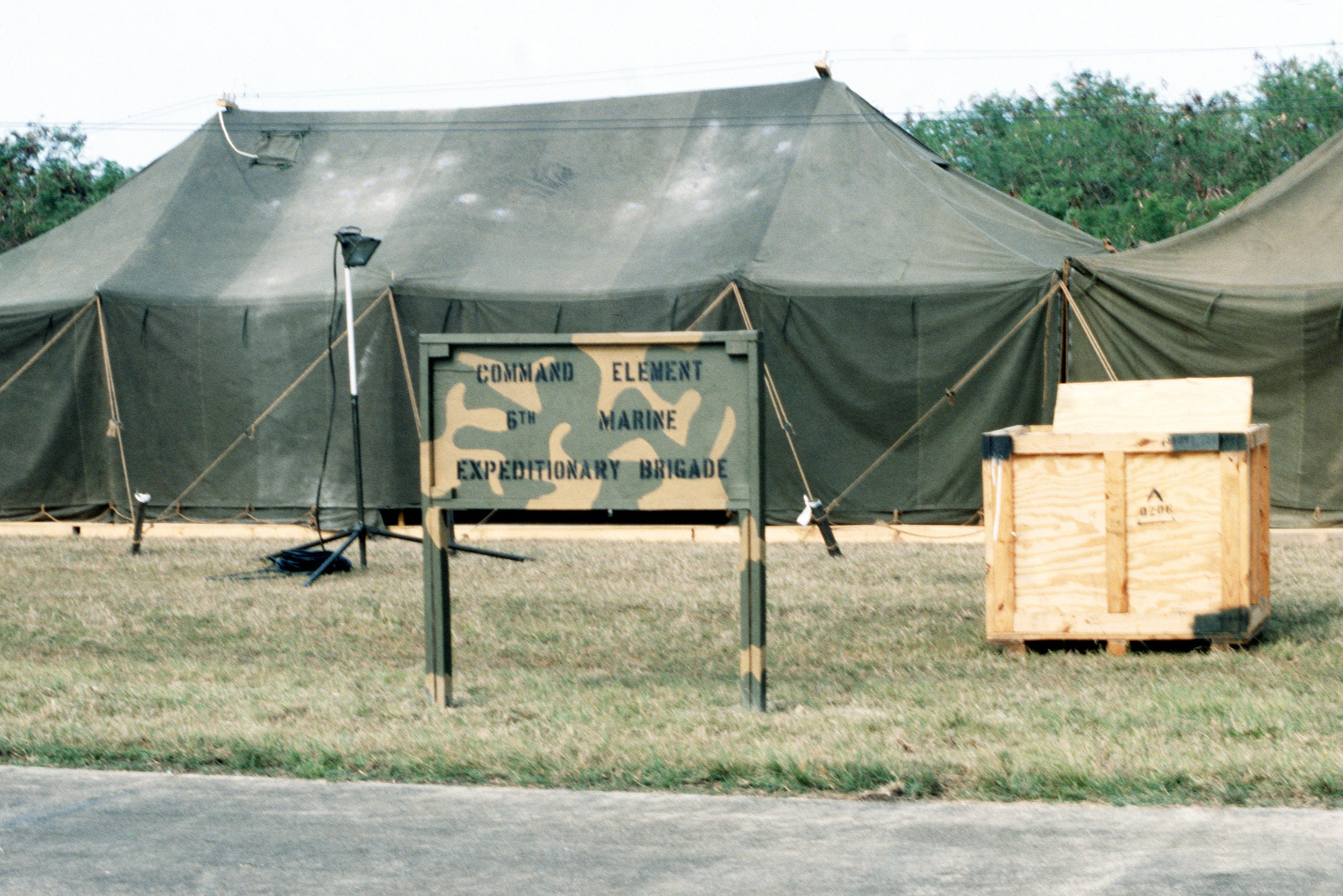 A view of some of the tents used by the command element of