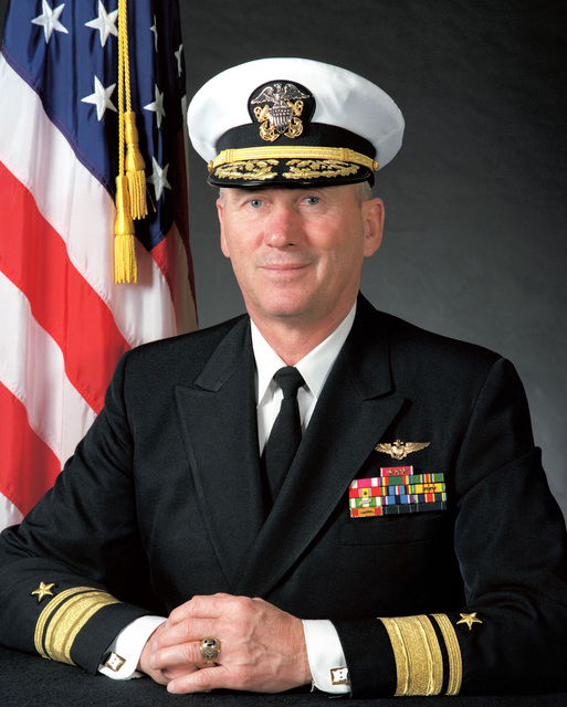 Portrait:  US Navy (USN) Rear Admiral (upper half) (RADM) John C. Weaver (covered)