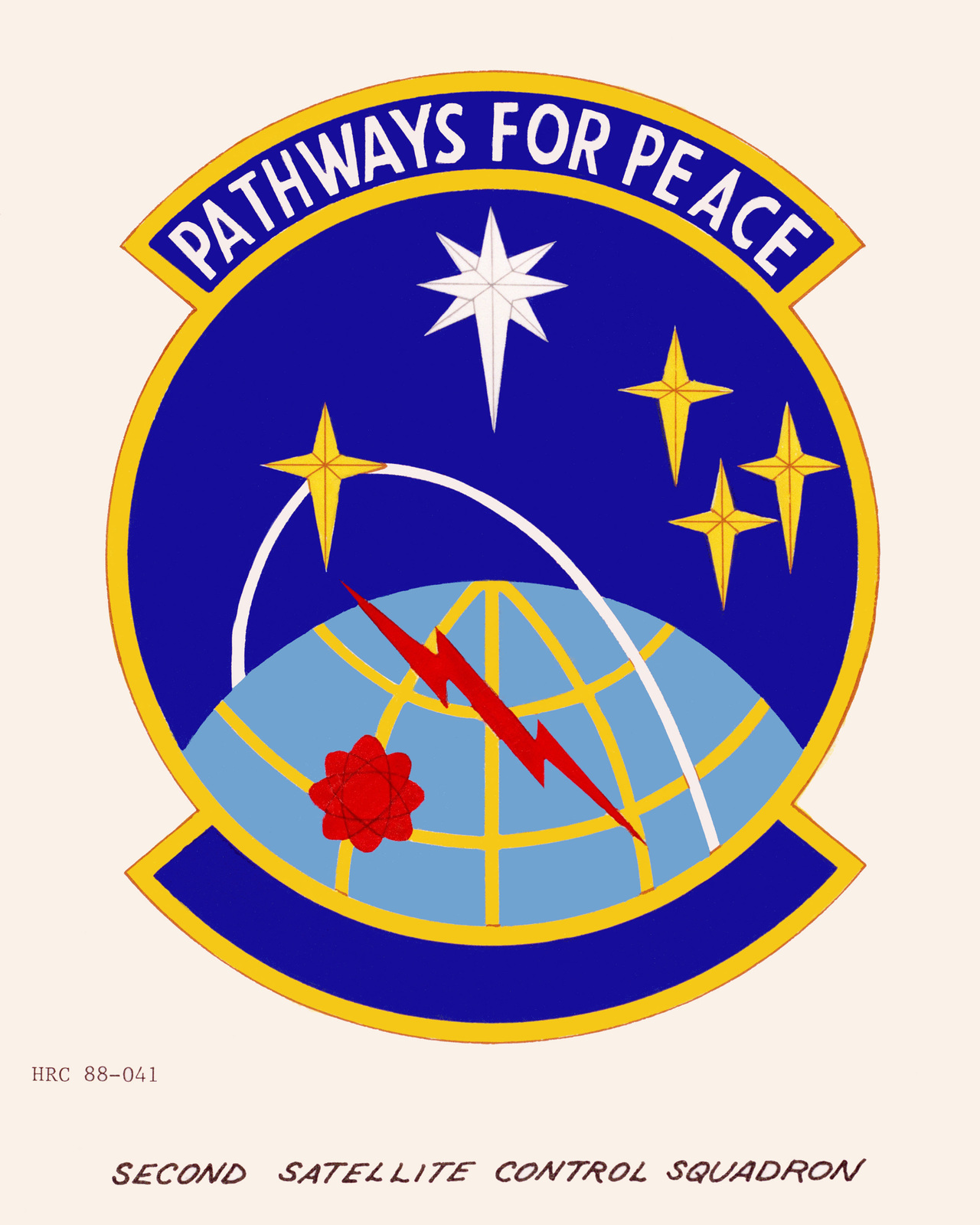 Approved insignia for:  2nd Satellite Control Squadron