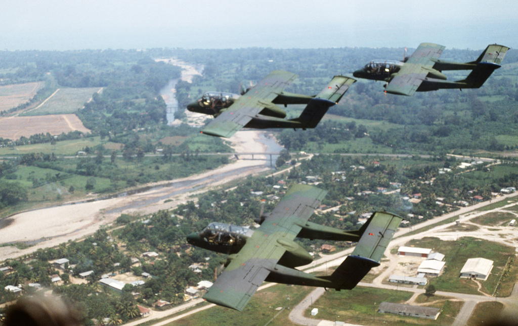 An air-to-air left side view of 27th Tactical Air Support Squadron ...