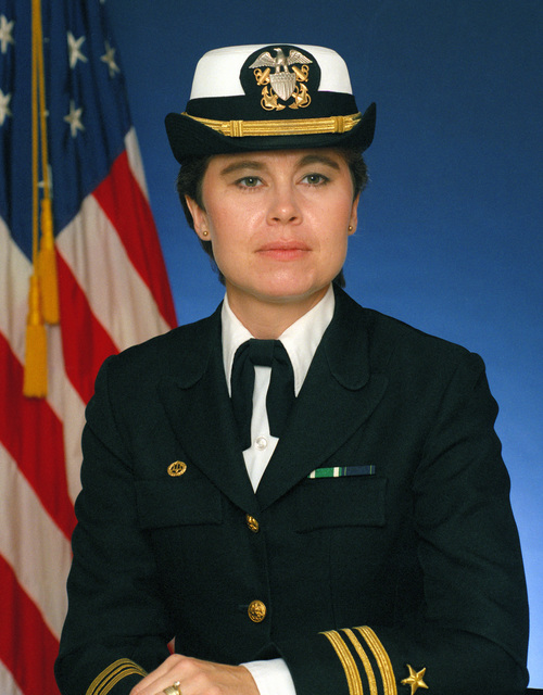 Portrait:  US Navy (USN) Lieutenant Commander (LCDR) Susan J. Blunt (covered)