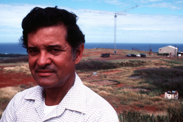A close-up view of Clarence Mohica, radio branch chief at the Commando Escort master station at Punamano. Commando Escort, part of the1957th Information Systems Group (ISG), links the commander-in-chief Pacific Command and the commander-in-chief Pacific Air Forces, with bases and military forces throughout the area