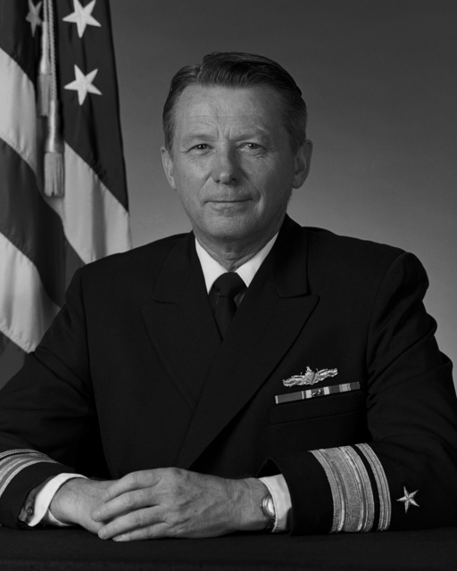 Portrait:  US Navy (USN) Rear Admiral (RADM) (upper half) Roger B. Horne (uncovered)