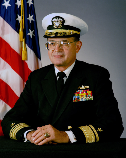 Portrait:  US Navy (USN) Rear Admiral (RADM) (upper half) Lawrence Layman (covered)