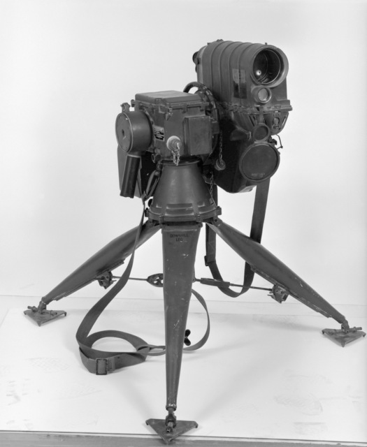 A close-up view of a Modular Universal Laser Equipment (MULE) ground laser designator. The MULE is a portable device used for targeting laser-seeking tactical weapons. Exact Date Shot Unknown
