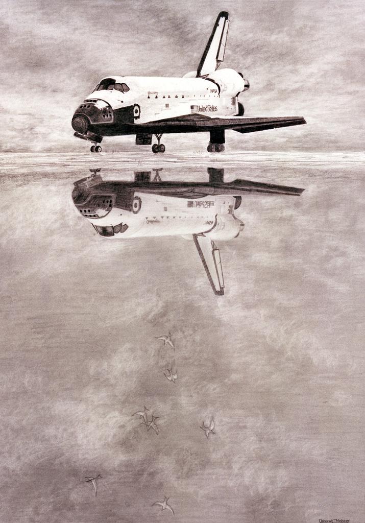 "Artwork: ""Reflections"". Artist: Deborah J. Meisner. US Air Force Art Collection"