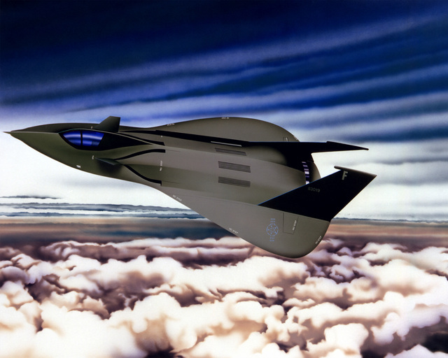 "Artwork: ""'Stealth' The Cloak and Dagger Aircraft Programmes"". - Artist: Donald J. Klappauf. (U.S. Air Force Art Collection)"