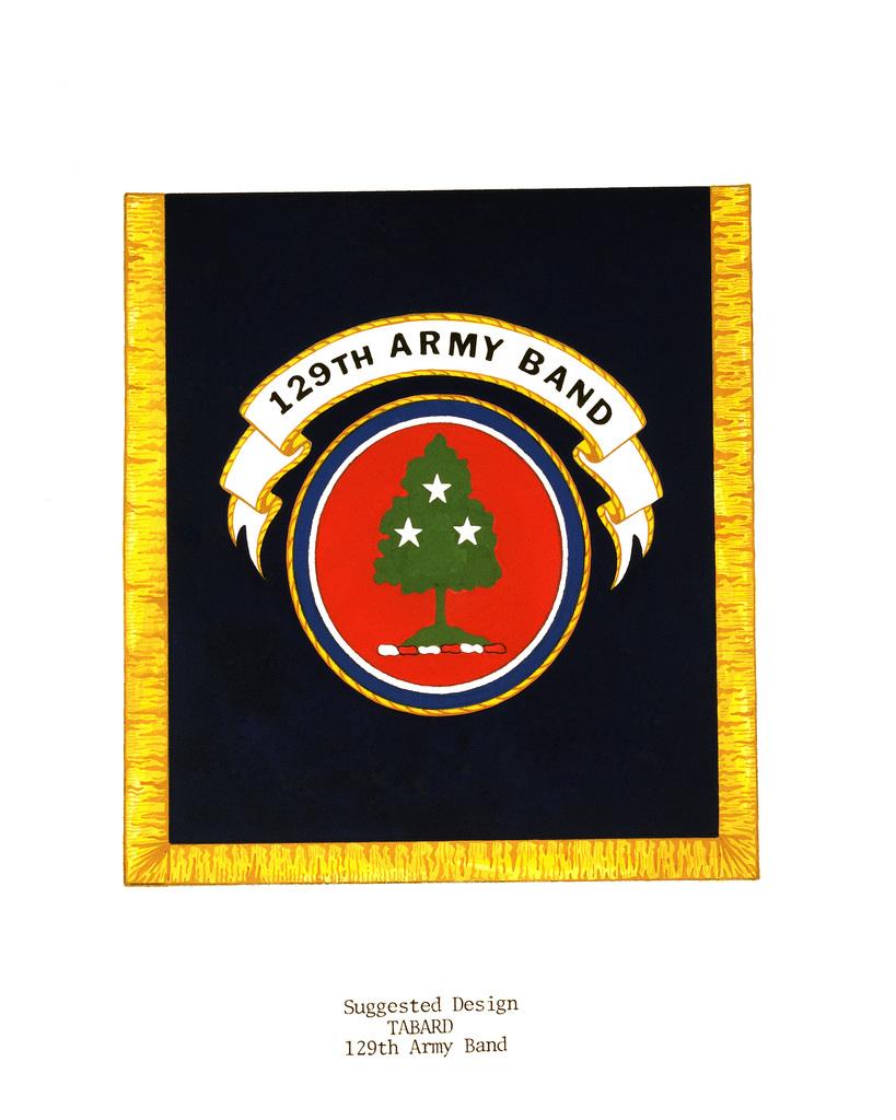 Heraldic Band Regalia:  Tabard, 129th Army Band