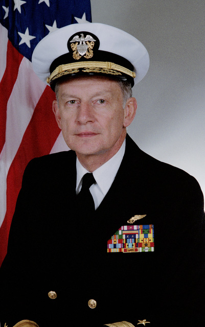 Portrait:  US Navy (USN) Rear Admiral (RDML) (lower half) Eugene D. Conner (covered)