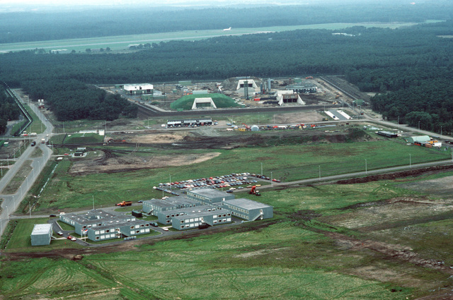 An aerial view of the ground launched cruise missile base at Wuensdrecht Air Station, home the 487th Tactical Missile Wing