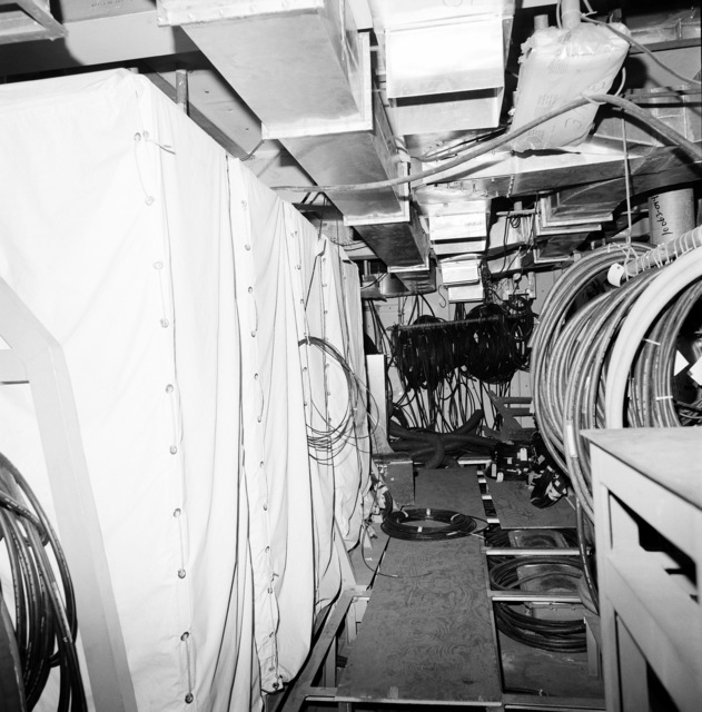 A view of computer central on the guided missile cruiser COWPENS (CG 63). The ship is 60 percent complete