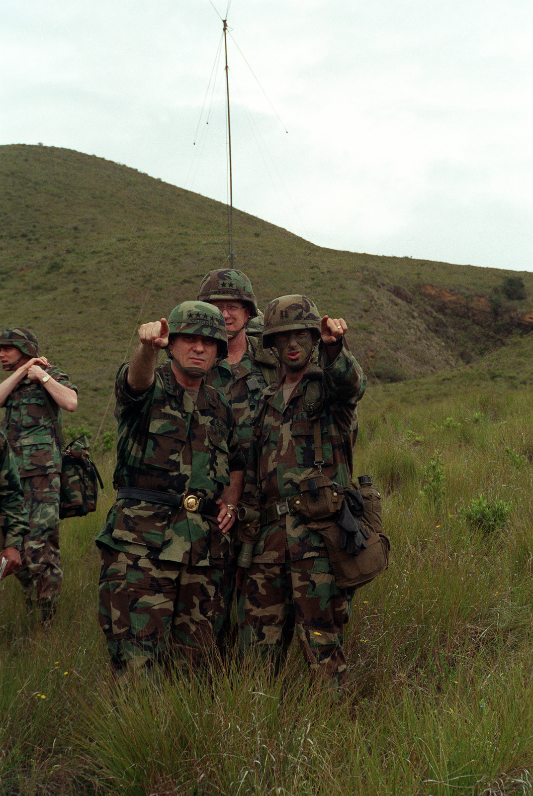 A captain with the 25th Infantry Division (Light) points out