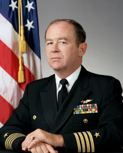 Portrait:  US Navy (USN) Captain (CAPT) David G. Ahern (uncovered)