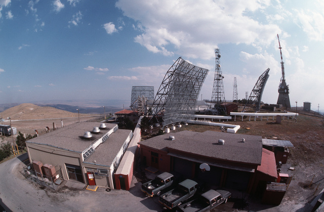 A view of some of the buildings and antennas at a communications facility run by Detachment 4, 2003rd Communications Group. Elma Dag is located about 20 miles east of Ankara, Turkey