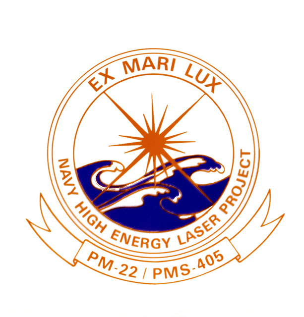 Seal of the Navy High Energy Laser Project, PM-22/PMS-405