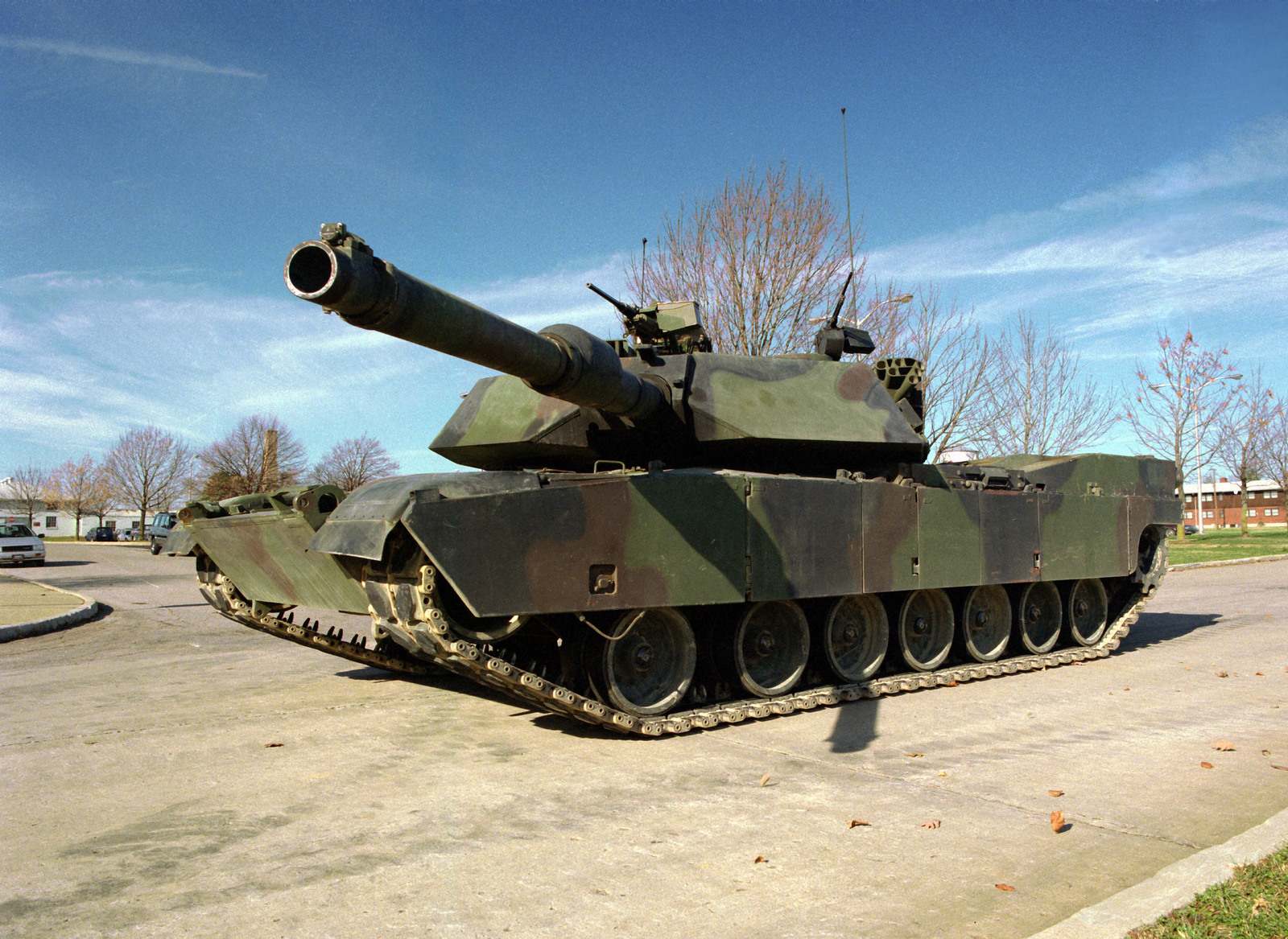 b8f87f4bb965bb Left front view of M1A1 Abrams Main Battle Tank at the U.S. Army Armor  Center,