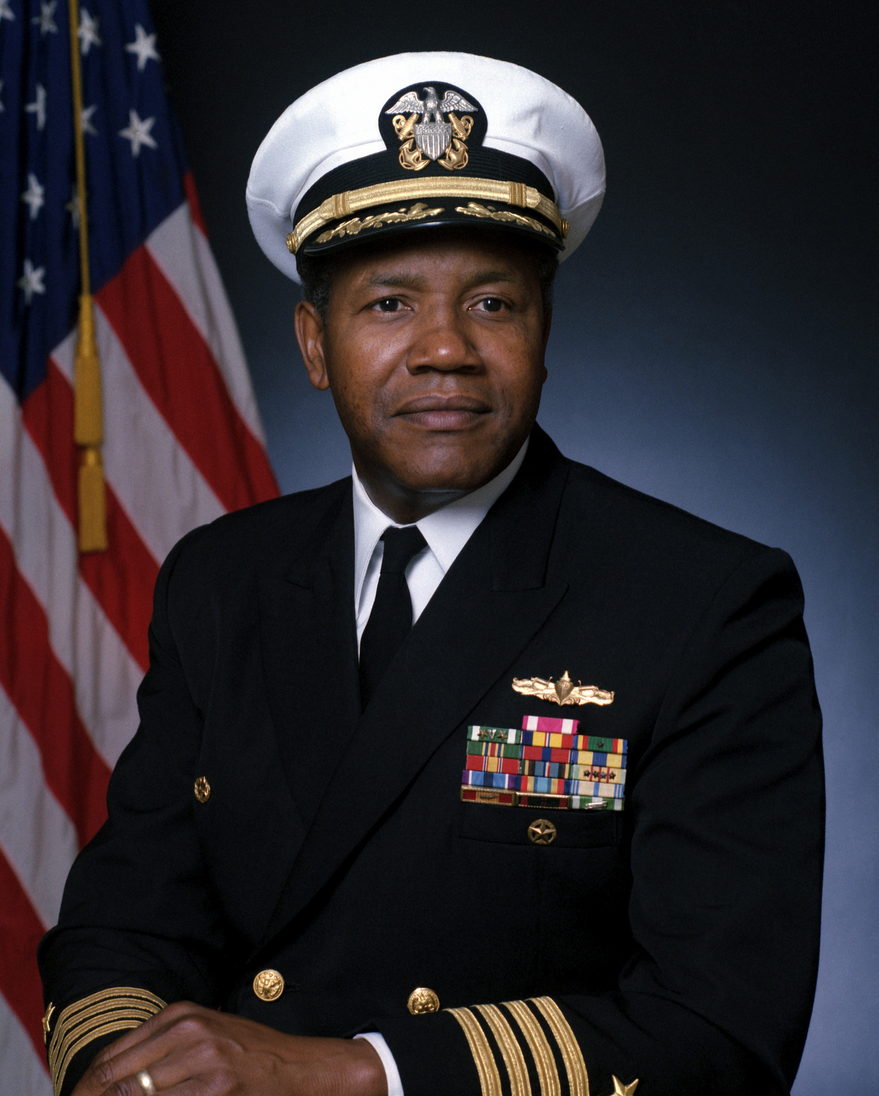 Captain George L. Gaines, USN (covered)