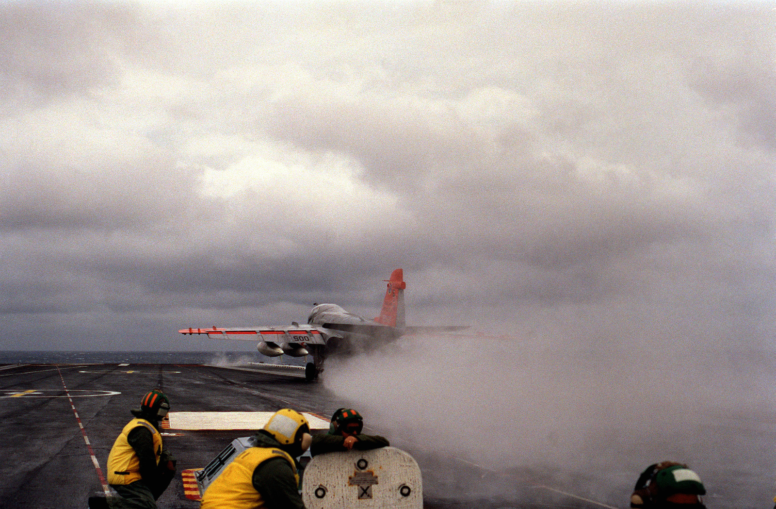 An A-6 Intruder aircraft is launched from the flight deck of the nuclear-powered aircraft carrier USS THEODORE ROOSEVELT (CVN 71)