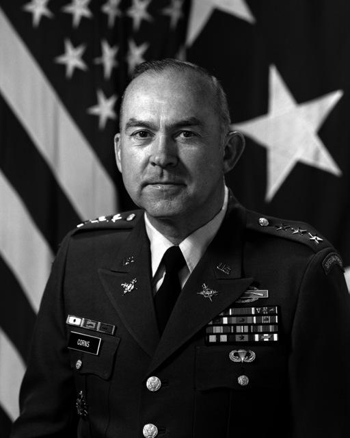Lieutenant General Johnnie H. Corns, USA (uncovered)