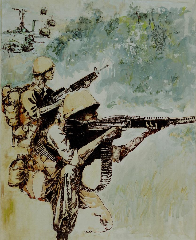 "Artwork: ""Final Extraction"" Vietnam, 1969. Artist: William Stransky. Catalog Number: 1.139.87"