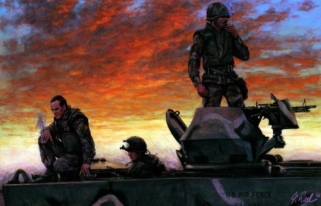 "Artwork: ""If you Got Em - Smoke 'Em"". Artist: Guy Deel. U.S. Air Force Art Collection"