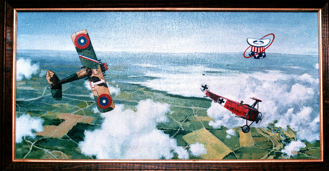 "Artwork: ""The Chase, the Dive"". Artist: K.L. Taylor. U.S. Air Force Art Collection"