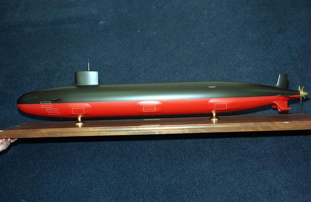 An artist's concept of the nuclear-powered submarine SEAWOLF