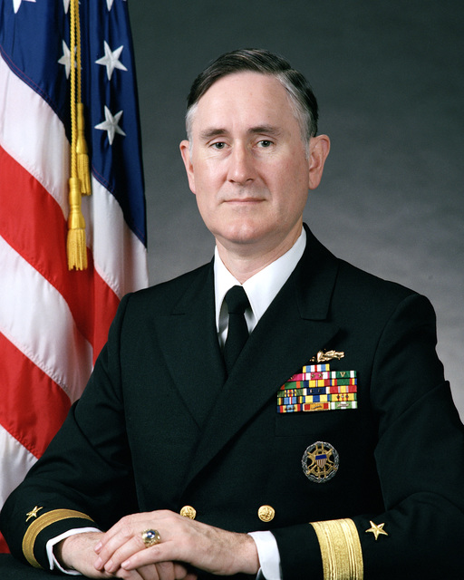 Rear Admiral (lower half) Dennis R. Conley, USN (uncovered)