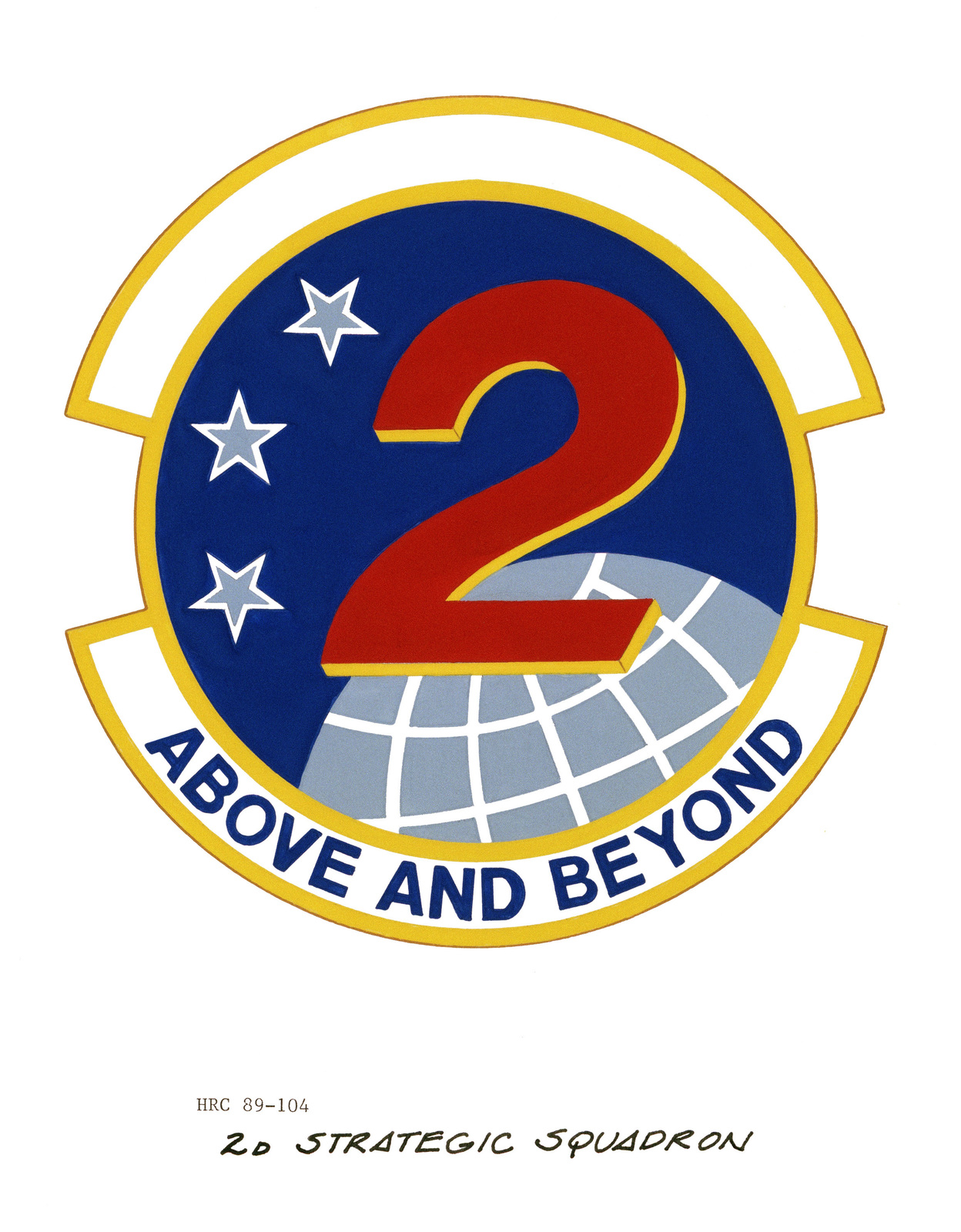 Approved insignia for: 2nd Strategic Squadron