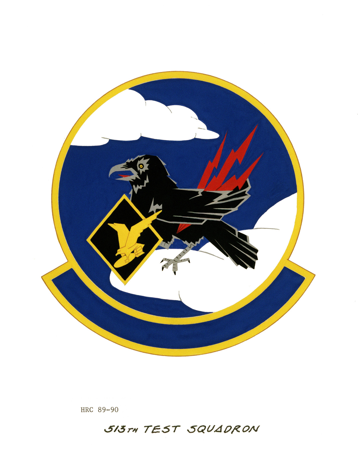 Approved insignia for: 513th Test Squadron