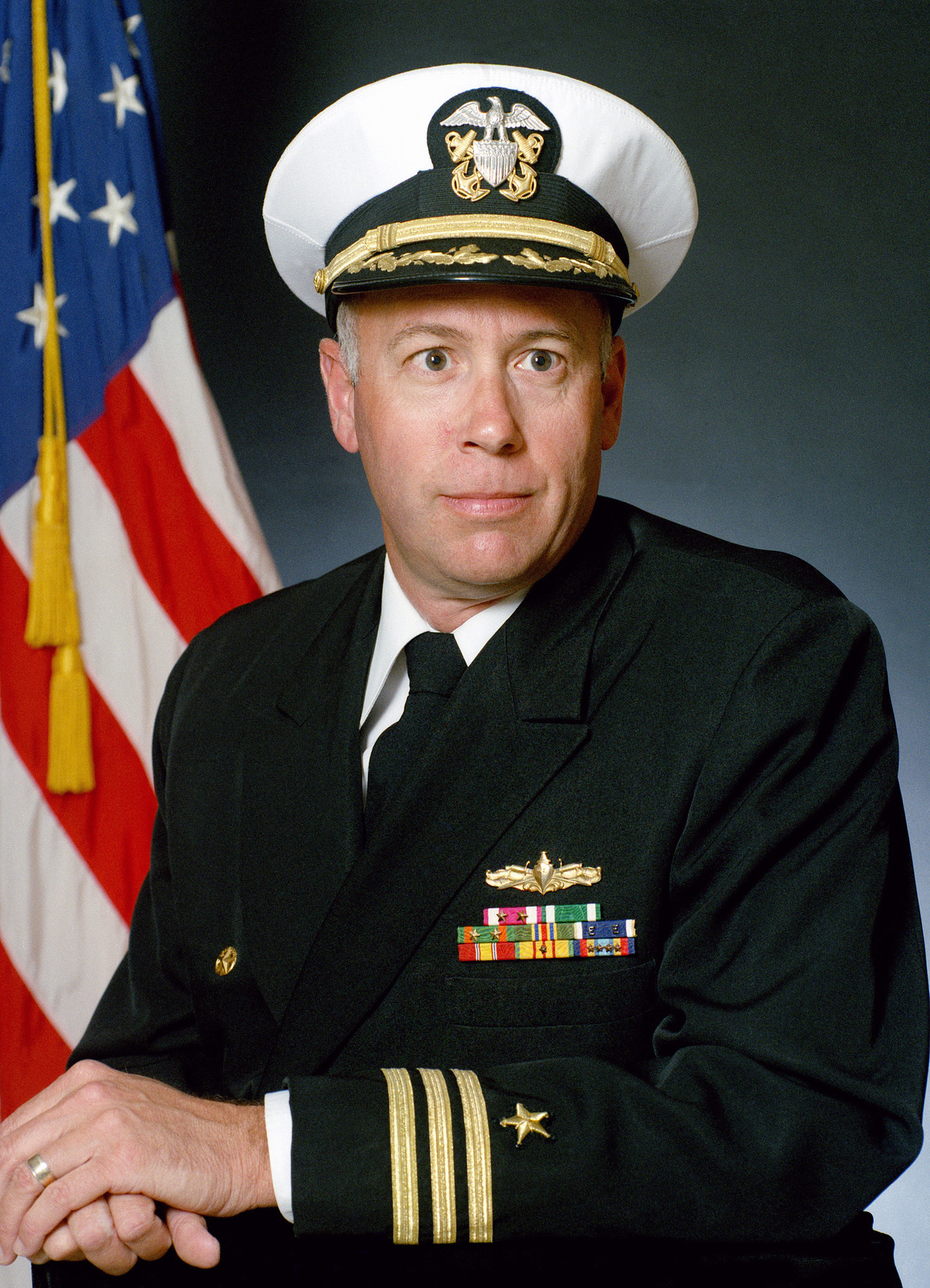 Commander Robert P. Farrington, USN (covered)