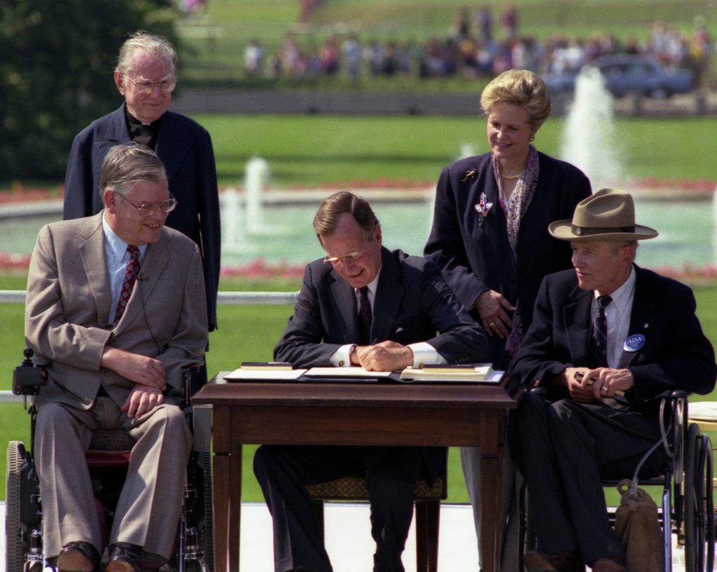 President George H. W. Bush Signs the Americans with Disabilities Act