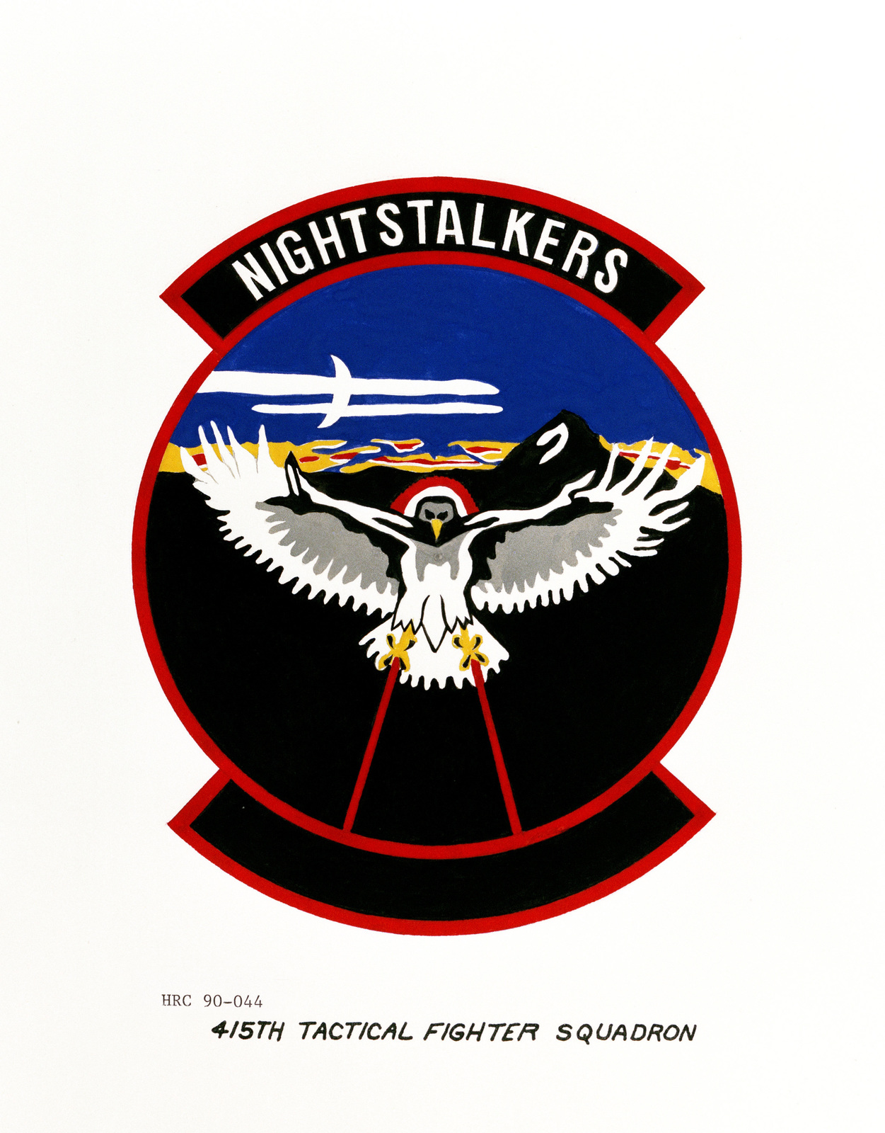 Approved insignia for: 415th Tactical Squadron