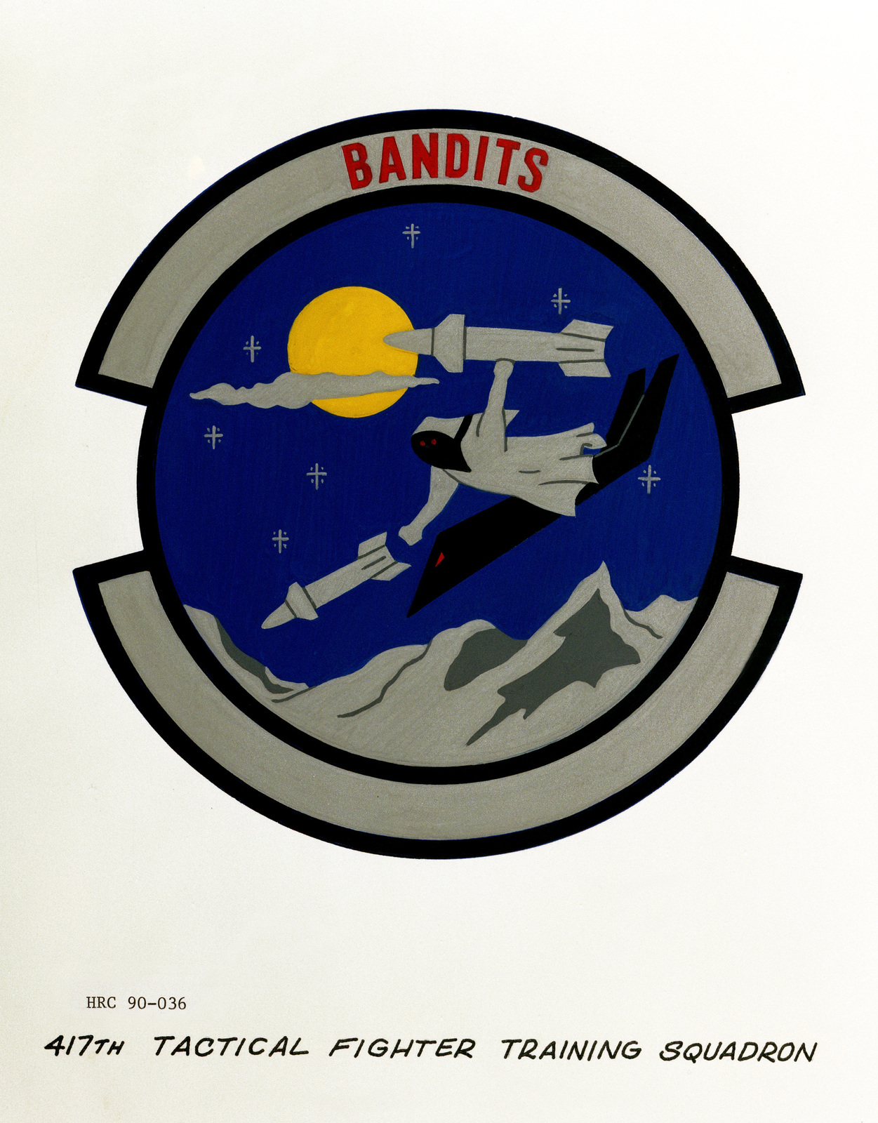 Approved insignia for: 417th Tactical Fighter Training Squadron