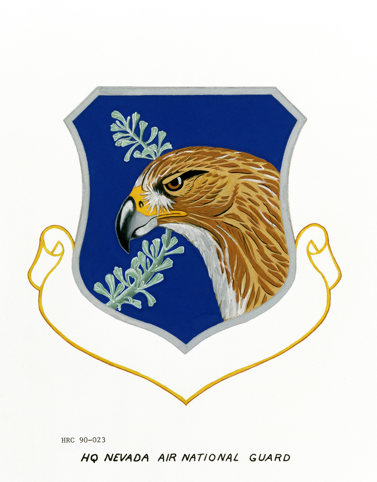 Approved insignia for: Headquarters, Nevada Air National Guard