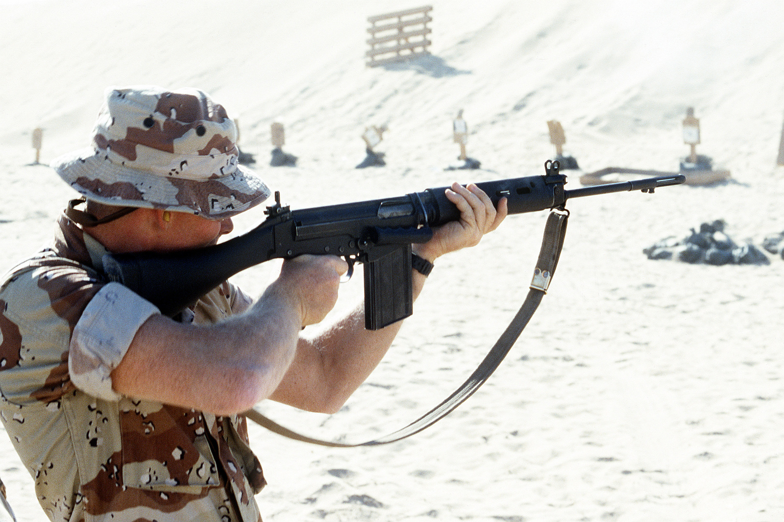 A Marine from 7th Platoon, 1ST Force Reconnaissance Company