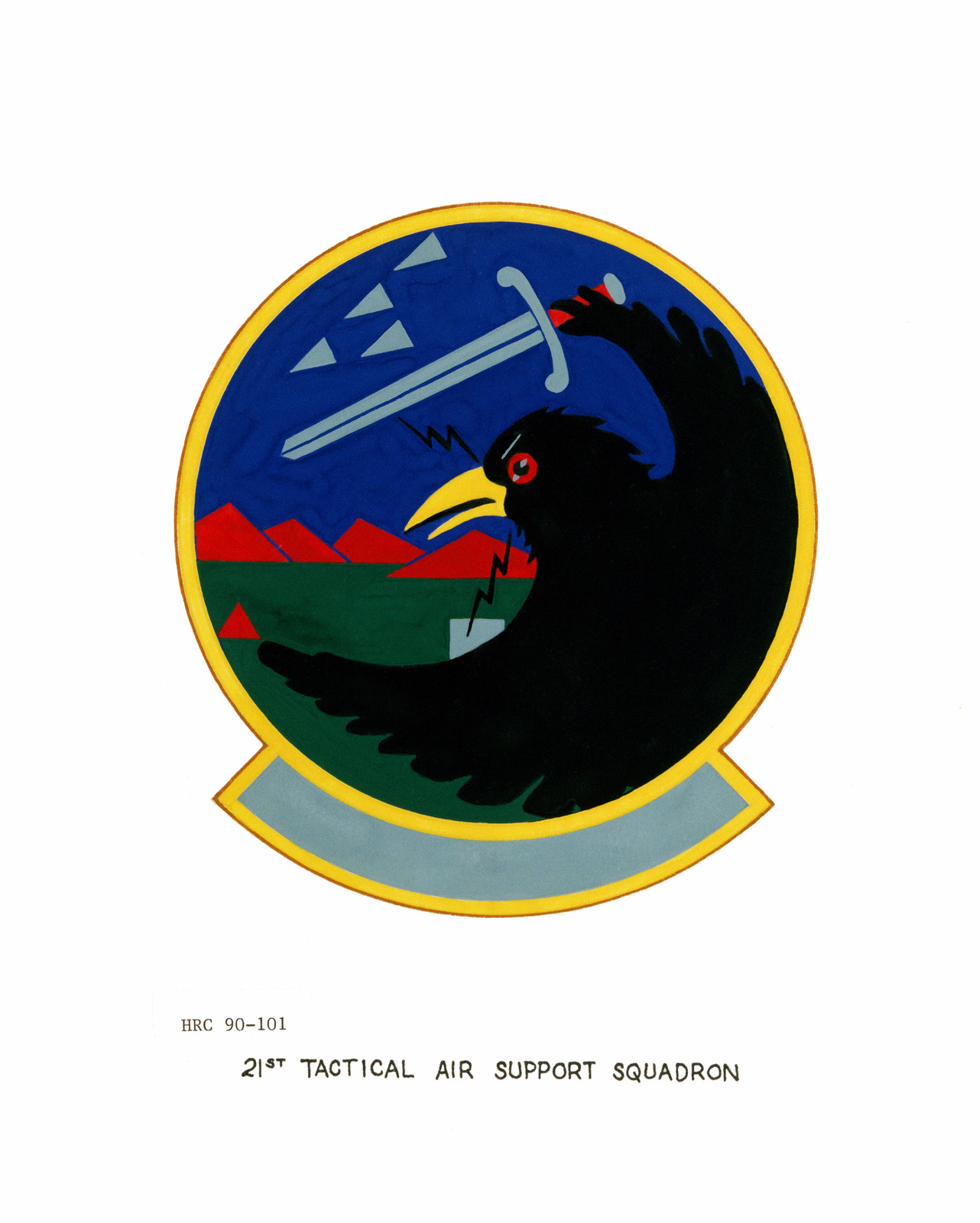Approved insignia for: 21st Tactical Air Support Squadron