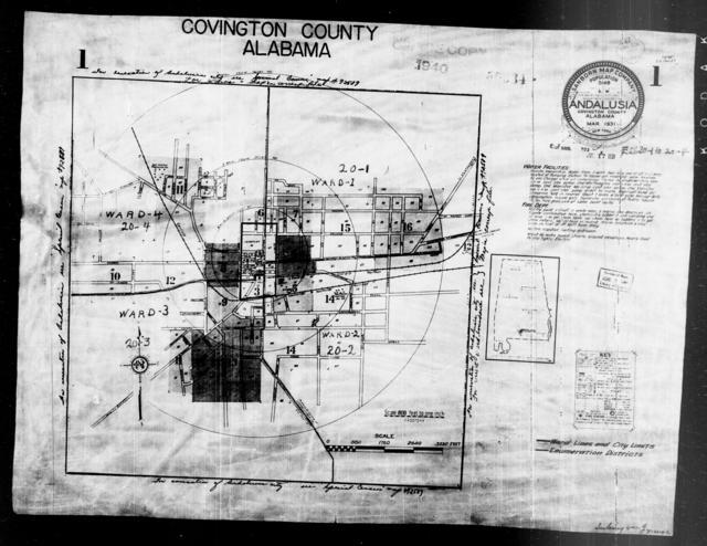 1940 Census Enumeration District Maps - Alabama - Covington County - Andalusia - ED 20-1, ED 20-2