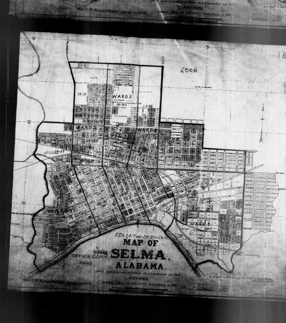 1940 Census Enumeration District Maps - Alabama - Dallas County - Selma - ED 24-7 - ED 24-50B