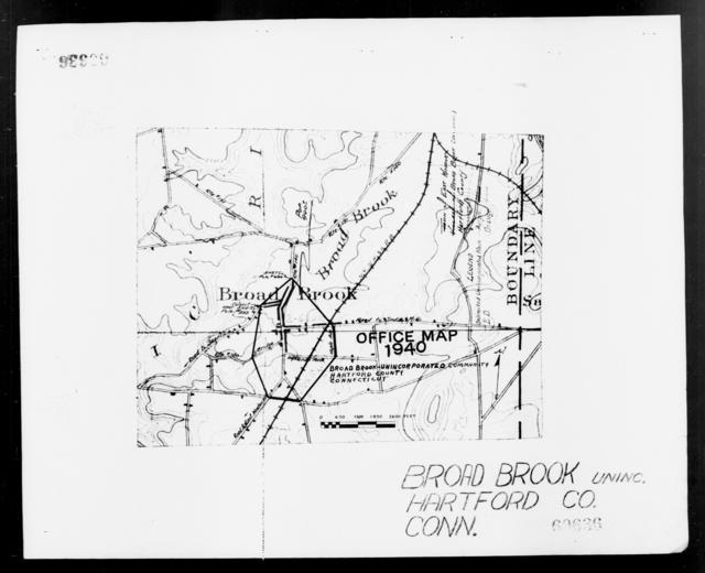 1940 Census Enumeration District Maps - Connecticut - Hartford County - Broad Brook - ED 2-60, ED 2-61
